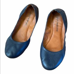 Lucky Brand women's leather ballet flats size 8